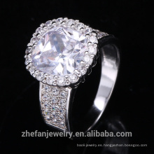 joyería de disfraces al por mayor anillo de navidad de circón cúbico blanco y redondo grande