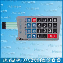 High performance PET membrane switch with embossed overlay