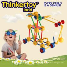 Jouets pour enfants en plastique à construction avancée