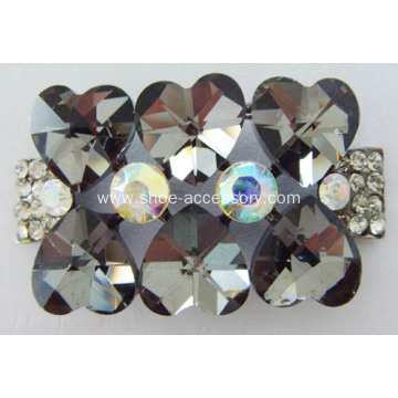 Heart Glass Design Shoe Buckle with Rhinestone