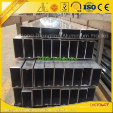 Tubulação de alumínio retangular da parede de cortina de Customzied com extrusões de alumínio