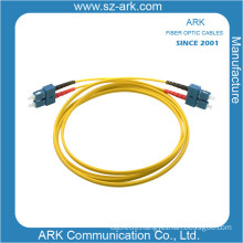 Sc-Sc Singlemode Duplex Fiber Optical Patchcord with Yellow Jacket