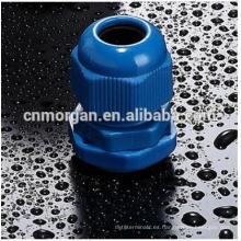 El conector de nylon azul de PG16 Gands conecta con UL94-V2 disponible en diversos tamaños