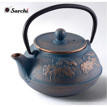 Enamel Cast Iron Teapot Kettle With Infuser