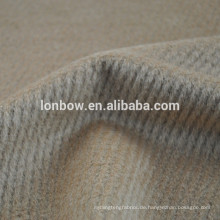 Wollweißes hellbraunes Alpakawollegewebe für Frauenübermantel