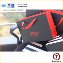 Bolsa de embalagem de presente de papel de moda nova com alça