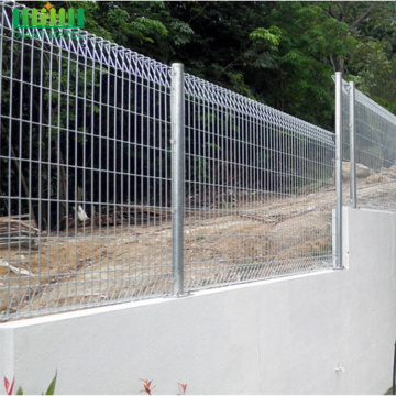 Galvanized BRC Roll Top Mesh Fence Panels