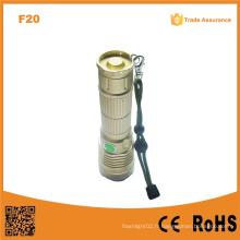 F20 Lumière de torche à LED rechargeable la plus performante Xm-L U2 LED LED Torch Light