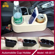 Coche de múltiples funciones plástica portavasos para el asiento delantero entre el brazo