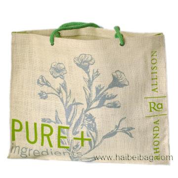 Стильная индивидуальная сумка для покупок из джута (HBJU-41)