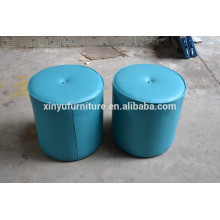 Blue french pouf round shape XYN220