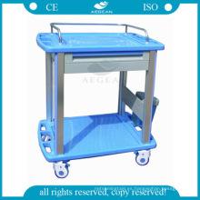 AG-CT010A3 Clínica de enfermería de alta calidad con 4 ruedas pequeñas, carro de registro de pacientes