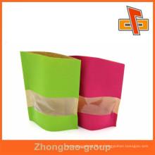 Alimentação de plástico alinhado pantone cor impressão kraft saco de papel