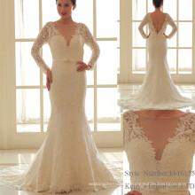 Global Hot Sale Deep V Neck Printed Lace Vestido Vestidos de dama de honra