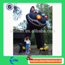Gato negro inflable gigante al aire libre de halloween para la venta