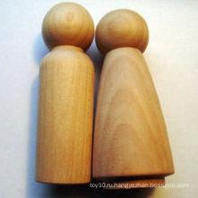 Неоконченные куклы DIY изготовленные на заказ деревянные миниые Kokeshi Pegs