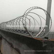 Spiral razor barbed wire anping factory galvanized razor wire BTO22 concertina razor wire