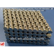 Special shape magnet with special hole from France design/special cone/special cylinder