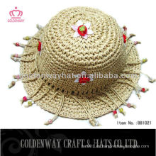 Sombreros de ganchillo de verano para bebés con accesorio