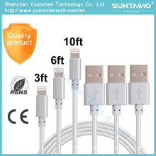 Nuevo cable de carga de datos USB Nylon 8pins para iPhone