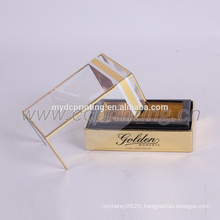 creative perfume packing box with plastic lid