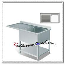 S272 Single Sink Bench With Splashback