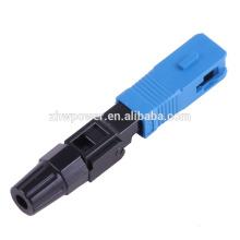 SC Fibre optique Connecteur rapide SC / UPC monomode connecteur rapide SX connecteur froid