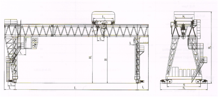 Mg Truss gantry crane Sketch