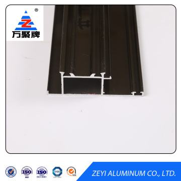 Black powder coating aluminum door profile extrusion