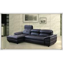 Cor azul couro sofá, poltrona, sofá, mobília Home (M329)