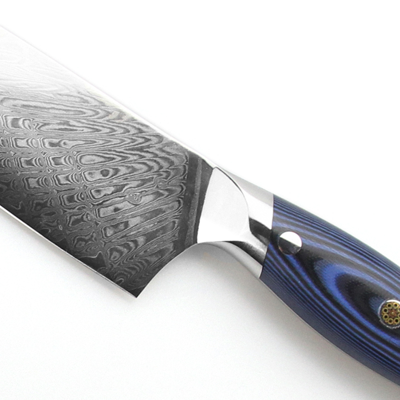 Beautiful Handle Chef Knife Set Damascus Steel 3