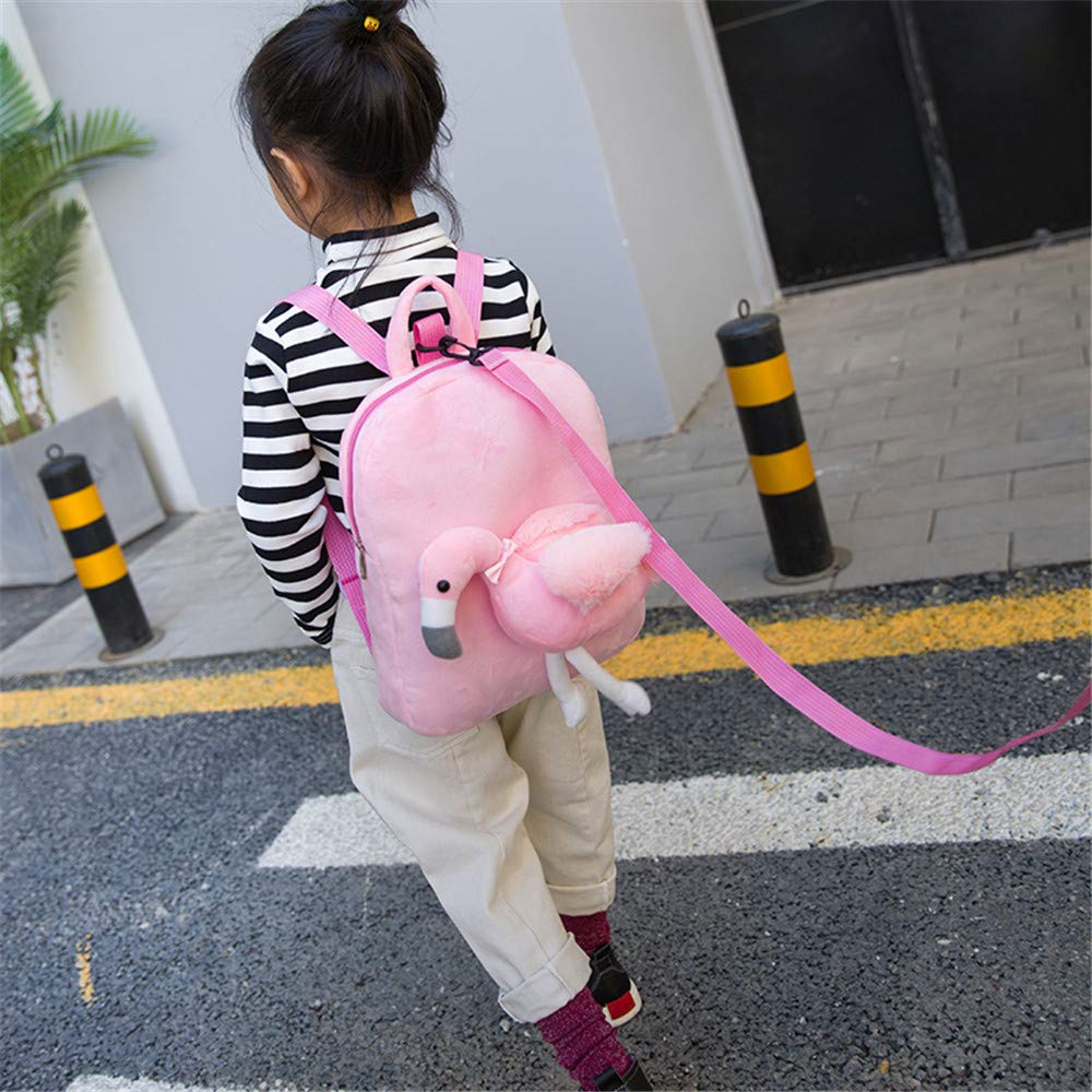 Cute Flamingo Plush Backpack 4