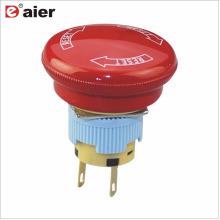 Botón de parada de emergencia de 16 mm IP67