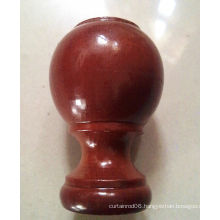 28MM drapery spray coating wood decorative finials, covers, end caps for home deco
