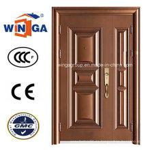 Uno y medio Doorleaf que abre la puerta de cobre de acero Secuirty (W-STZ-01)