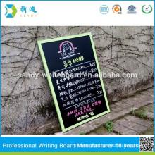 menu chalkboard for cafe