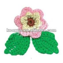 Украшение крючком цветочного украшения для одежды