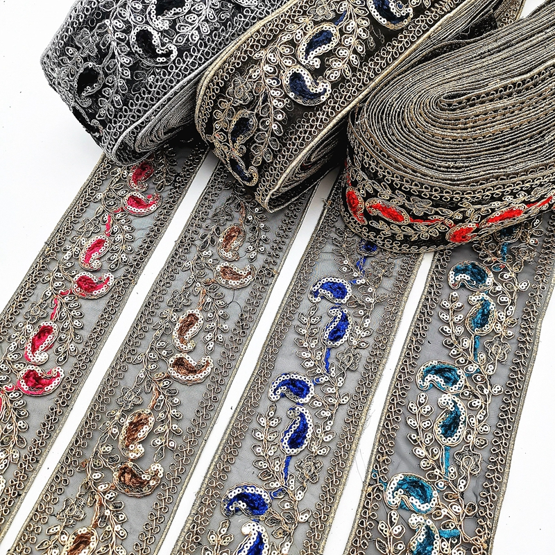 Ribbon Embroidery Lace Sequin
