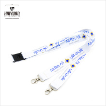 Doppelte Clips Heat Transfer Printing Lanyard
