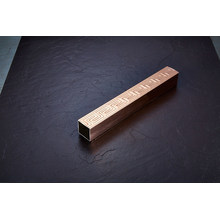 Excellent Stainless Steel Square Embossed Tube with Broze