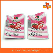 Laminated materials aseptic plastic liquid packaging pouch with foil inside for juice