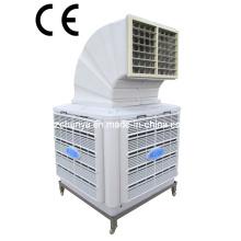 Salida de aire lateral simple Refrigeración de aire axial evaporativa de piso