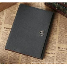 Custom PU Business Loose-Leaf Notebook, Metal Buckle Notepad for Gift