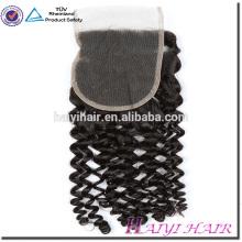 Wholesale Price Human Virgin Hair 4*4 Cambodian Virgin Hair Curly Lace Closure Piece