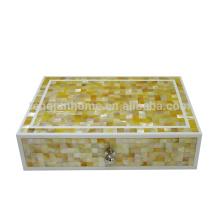 seashell mosaic product gold shell storage box
