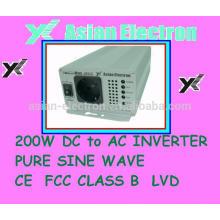 Постоянного тока в переменный ток инвертор выход 115В с выходом США 200Вт инвертор 50/60 Гц, выбирается переключателем