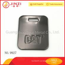 Etiqueta al por mayor del equipaje del metal del color del arma con alta calidad