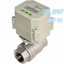 Vanne à bille automatique à eau automatique contrôlée par minuterie électrique haute qualité
