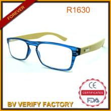 Neue Lesebrille trendige modische bunte kompakte Bambus Arm Gläser mit kleinen PC-Rahmen