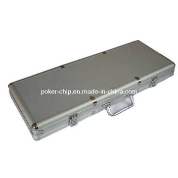 500PCS Poker Chip Set in Plain Surface Aluminum Case (SY-S28)